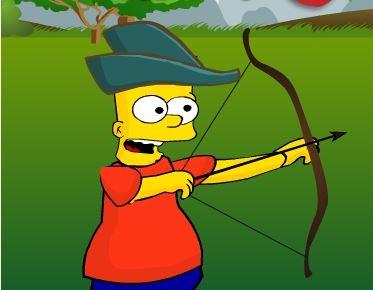 Барт Лучник, Игры Симпсоны - Играть Онлайн!