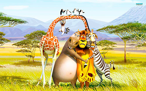 Играть в игры Мадагаскар 2