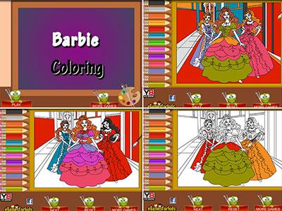игры раскраски барби играть онлайн бесплатно