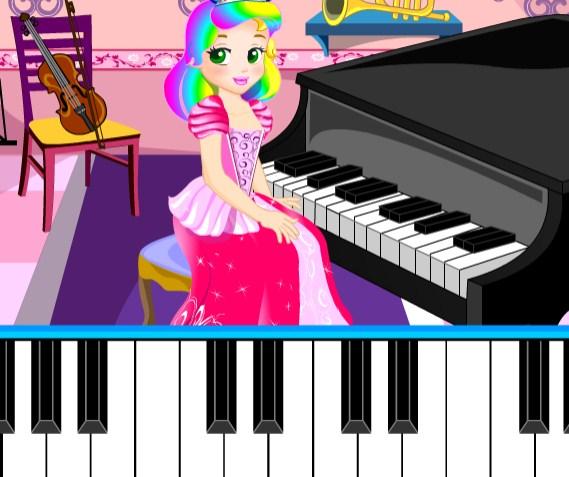 Игра Урок Пианино с Принцессой Джульеттой - Играть Онлайн!