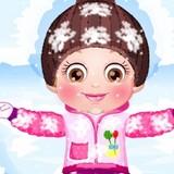 Игра Малышка Хейзел:  На Снегу