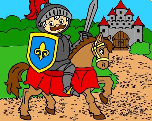 Игра Раскраска Рыцарь на Коне - Играть Онлайн!