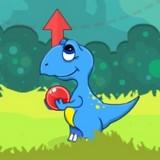 Игра Динозавр: Пузырьки