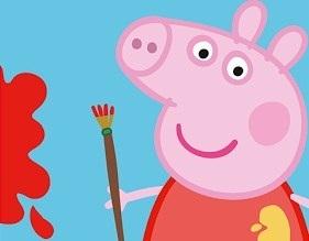 игра свинка пеппа раскраска играть онлайн