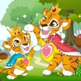 Игра Мама и Ребенок Тигры