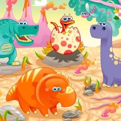играть онлайн динозавры карта