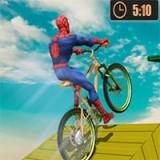 Игра Супергерои на BMX