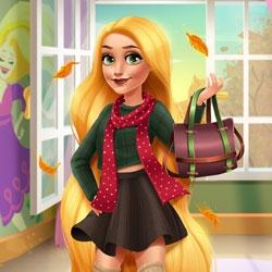 Игра Рапунцель: Осенняя Мода - Играть Онлайн!