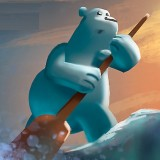 Игра Папа Медведь на Льдине