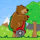Игра Медведь на Гироскутере
