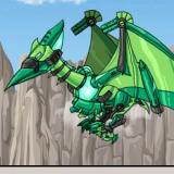 Игра Роботы Динозавры: Зелёный Птерандон