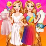 Игра Принцессы Диснея: Раскрась Одежду