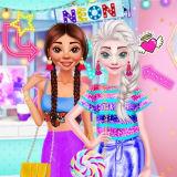 Игра Принцессы: Неоновая Одежда