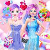 Игра Барби и Эльза: Конфетная Страна