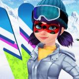 Игра Леди Баг Катается на Лыжах