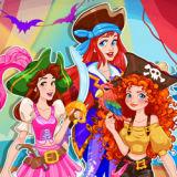 Игра Принцессы Диснея: Хэллоуин в Костюмах Пиратов