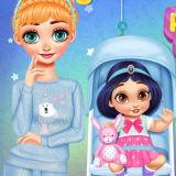 Игра Принцессы Ухаживают за Малышами