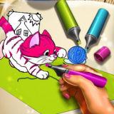 Игра Книга Раскрасок с Животными