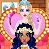 Игра Эльза: Свадебный Парикмахер для Принцесс