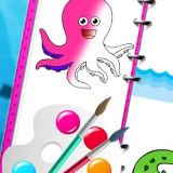 Игра Морские Создания: Раскраска