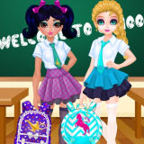 Игра Жасмин и Эльза: Конкурс дизайна школьных сумок