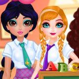 Игра Принцессы: Лучшие Подруги Спешат в Школу