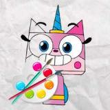 Игра Раскраска: Единорог Кошечка