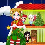 Игра Новогодний Кукольный Домик Принцессы