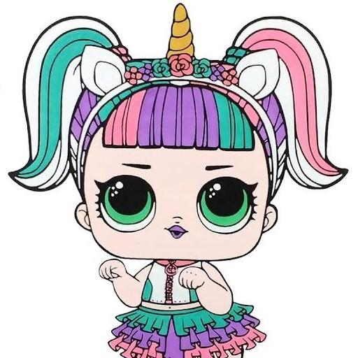 Игра Раскраска Куклы Лол: Единорожка - Играть Онлайн!