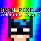 Игра Рисуем по Пикселям: Лица Героев