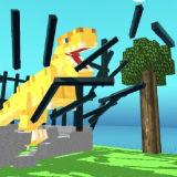 Игра Блочный Парк Динозавров: Ярость Тираннозавра