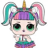 Игра Раскраска Куклы Лол: Единорожка