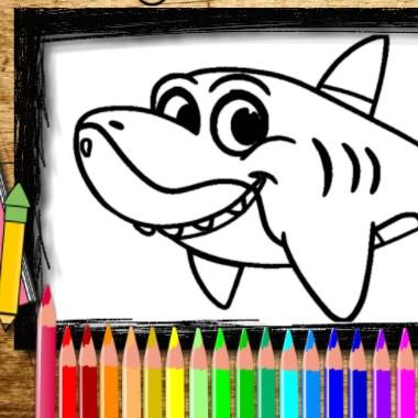 Игра Книга Раскрасок Акулы - Играть Онлайн!