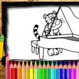 Игра Книга Раскрасок: Фортепиано