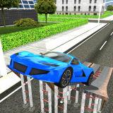 Игра Симулятор Вождения: Сумасшедшие Автомобильные Трюки 3Д