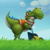 Игра Динозавр с Газонокосилкой