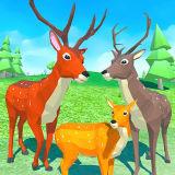 Игра Симулятор Оленя 3Д: Семья Животных