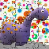 Игра Милый Динозавр: Пазл