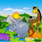 Игра Пазл: Веселые Животные