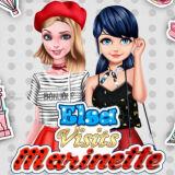 Игра Леди Баг: Эльза в Гостях у Маринетт