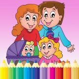 Игра Счастливая Семья: Книжка Раскраска