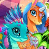 Игра Милые Единороги И Драконы: Пазл