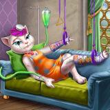 Игра Кошка Анджела: Домашнее Лечение