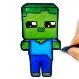 Игра Легкая Детская Раскраска: Майнкрафт