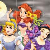 Игра Пазлы: Принцессы и Хэллоуин