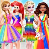 Игра Принцессы: Радужный Стиль Моды
