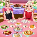 Игра Эльза и Барби: Фуршет Свидание