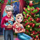 Игра Семья Эльзы на Рождество