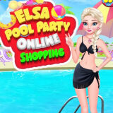 Игра Вечеринка Эльзы у Бассейна: Онлайн Шопинг