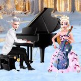 Игра Холодное Сердце: Эльза и Джек Играют На Фортепиано